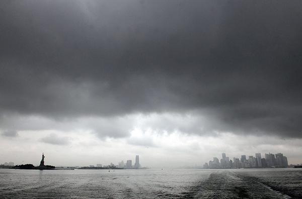 New York sotto l'uragano Irene
