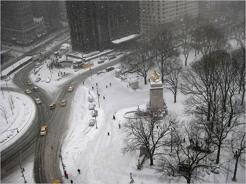 New York soot la neve
