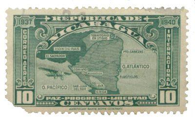 Un francobollo del Nicaragua del 1937
