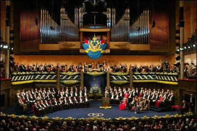 Cerimonia per la consegna dei premi Nobel