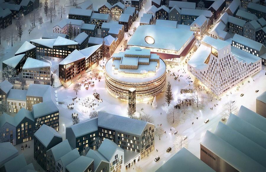 Il nuovo centro di Kiruna