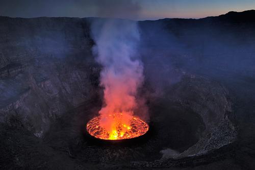 Il cratere del Nyiragongo