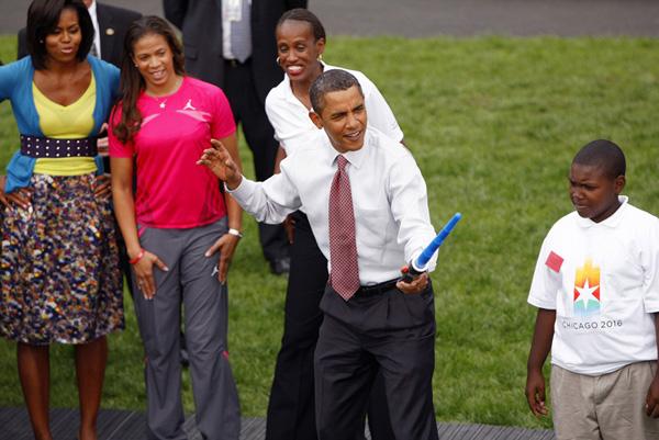 Obama con una spada laser