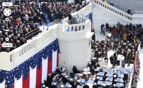 La foto da un gigapixel e mezzo scattata da David Bergman durante l'Inaugural Address