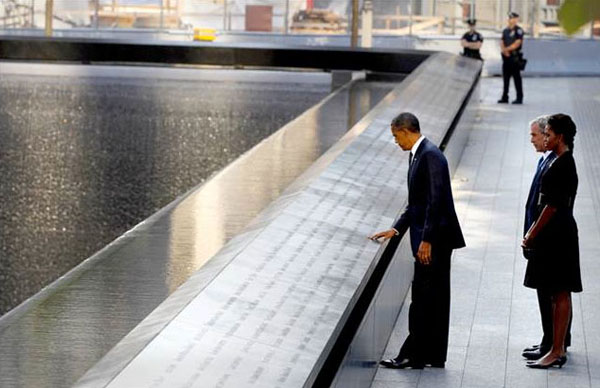 Il presidente Obama a Ground Zero