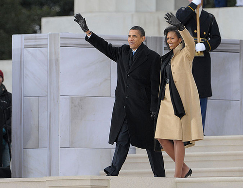 Barack e Michelle Obama al Lincoln Memorial