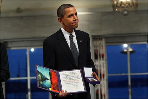 Il Presidente Obama accetta il Premio Nobel per la pace a Oslo
