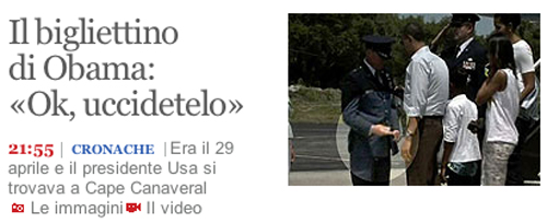 Screenshot de La Repubblica
