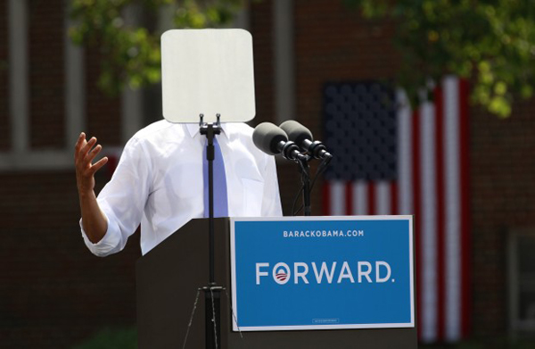 Obama e il teleprompter