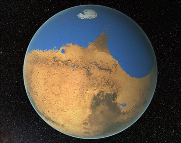 L'oceano di Marte