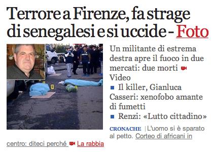 Screenshot di Corriere della Sera