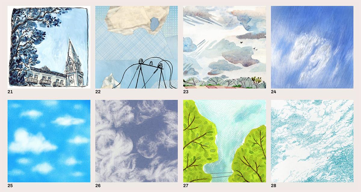 Il cielo alla stessa ora dipinto da 88 artisti in tutto il mondo