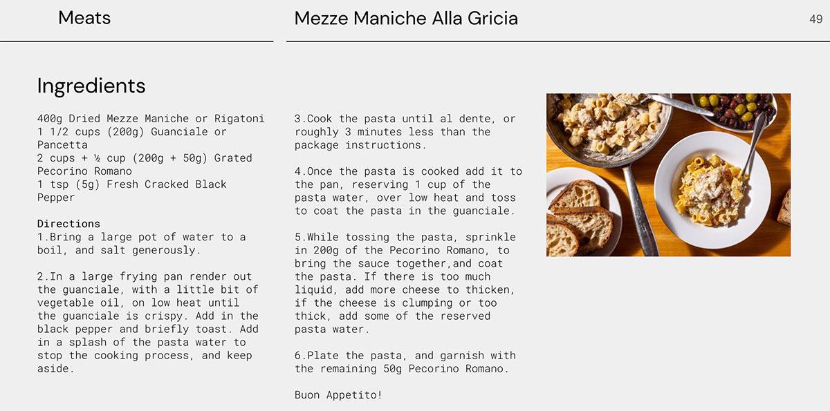 Una pagina dell'Open Source Cookbook