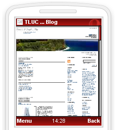 Screenshot di TLUC ... Blog su Opera Mini 4 beta