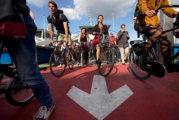 L'ora di punta ad Amsterdam
