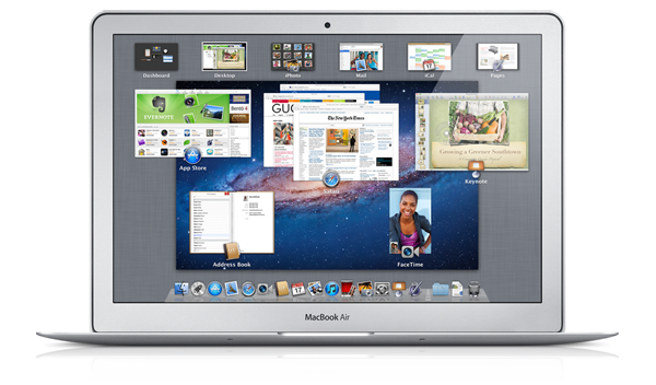 OS X Lion su un MacBook Air