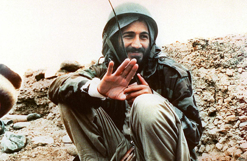 Osama bin Laden in Afghanistan nella guerra contro l'Unione Sovietica nel 1989