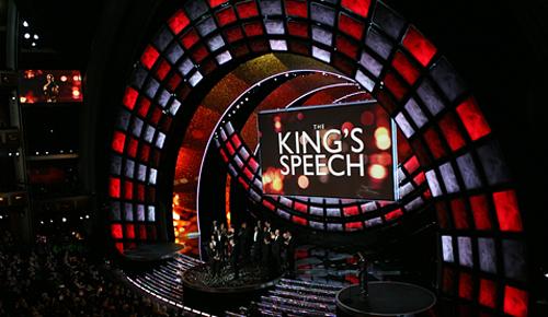 L'annuncio della vittoria di The King's speech come miglior film