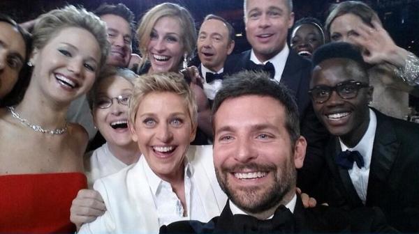 Il selfie agli Oscar 2014
