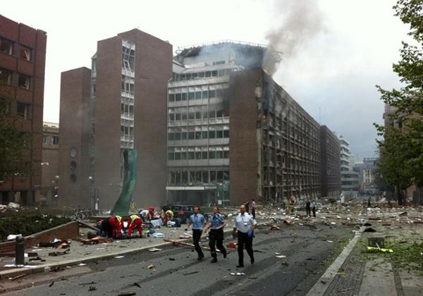 L'esplosione a Oslo