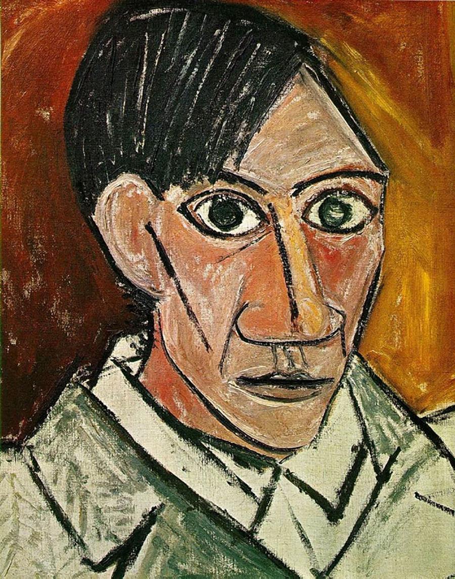 Pablo Picasso autoritratto a 25 anni