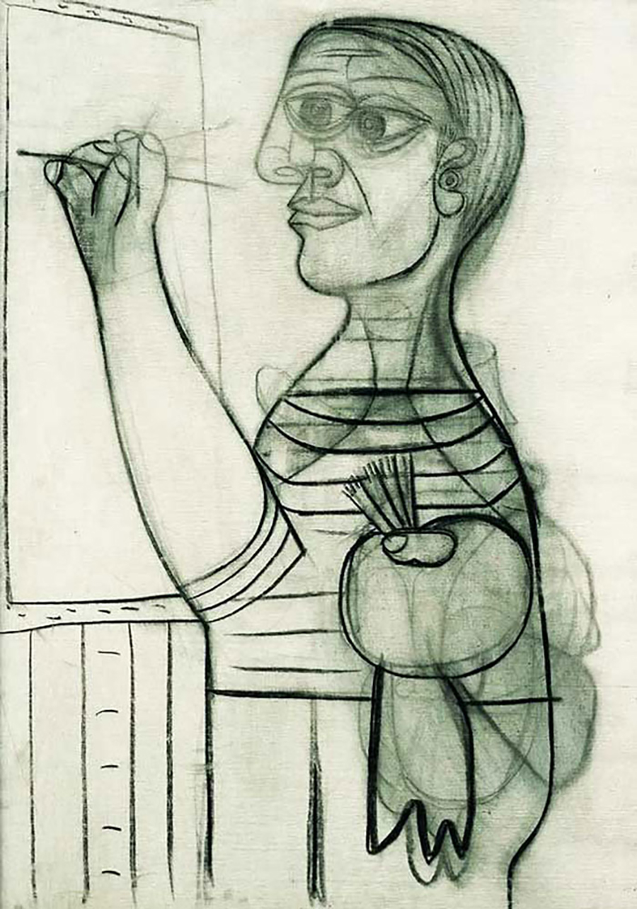 Pablo Picasso autoritratto a 56 anni