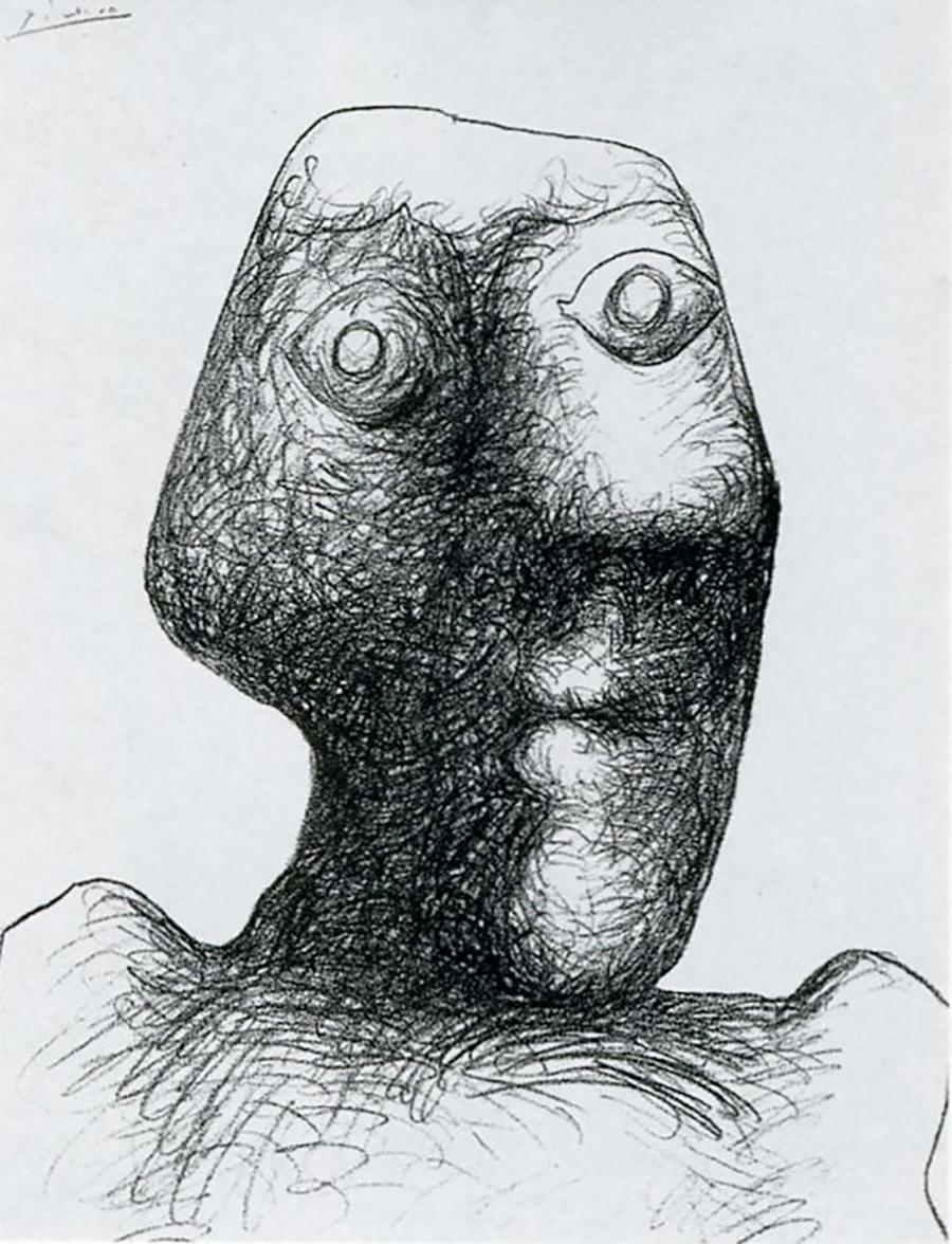 Pablo Picasso autoritratto a 90 anni