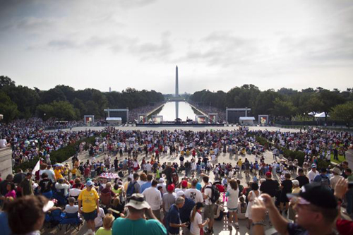 Il raduno dei Tea Party a Washington