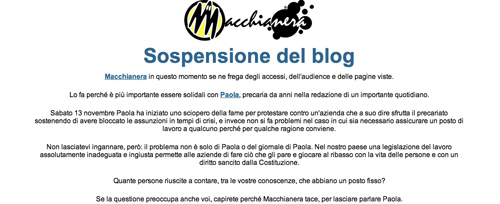 Screenshot di Macchianera