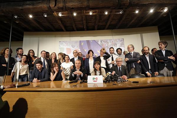 La conferenza stampa del PD dopo le europee 2014