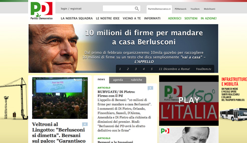 Screenshot di Partito Democratico