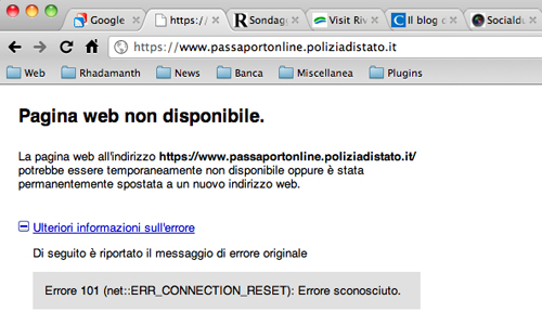 Screenshot di Polizia di Stato