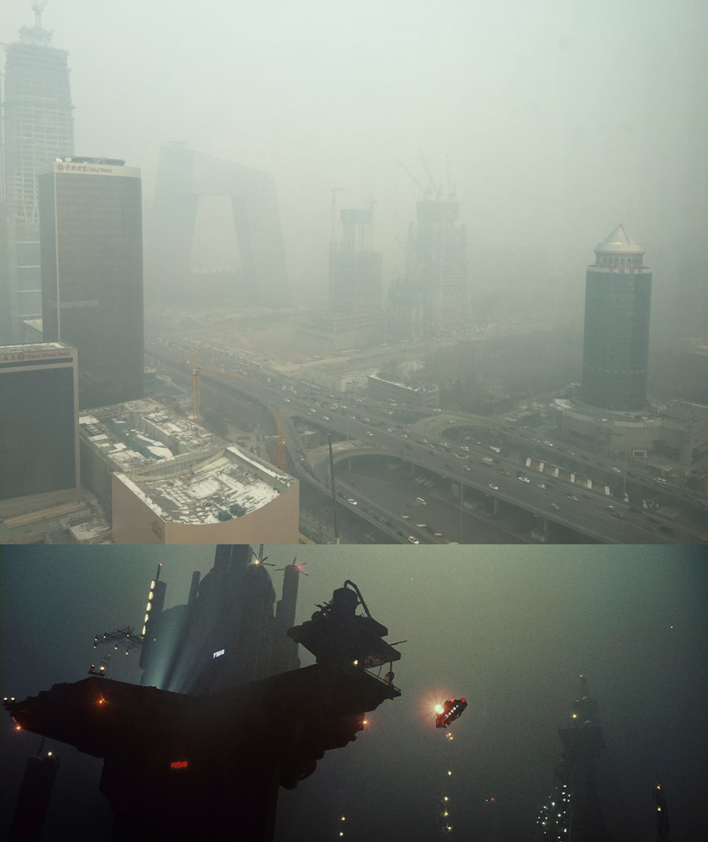 Inquinamento a Pechino come in Blade Runner