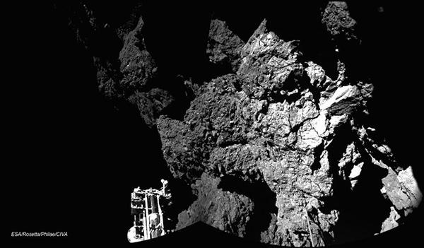 La prima foto scattata dal lander Philae