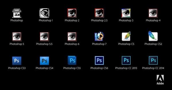 Le icone di Photoshop negli ultimi 24 anni