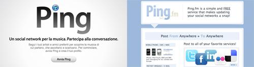 Screenshot dei due servizi di social network