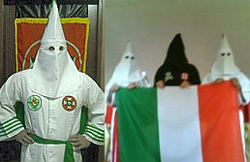 La sezione pirla del Ku Klux Klan in Italia