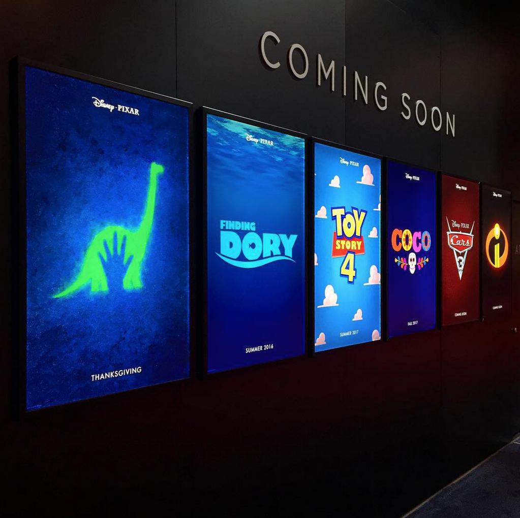 Teaser poster dei prossimi film Pixar