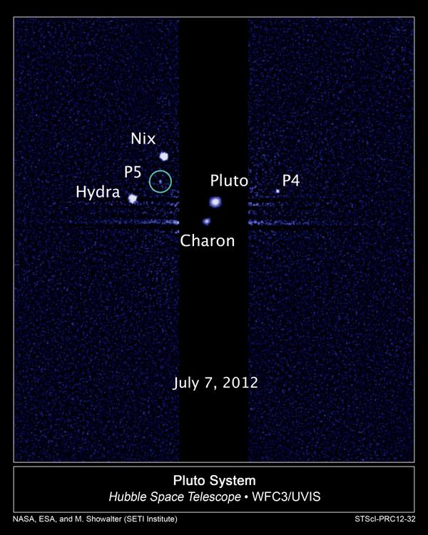 La luna P5 di Plutone