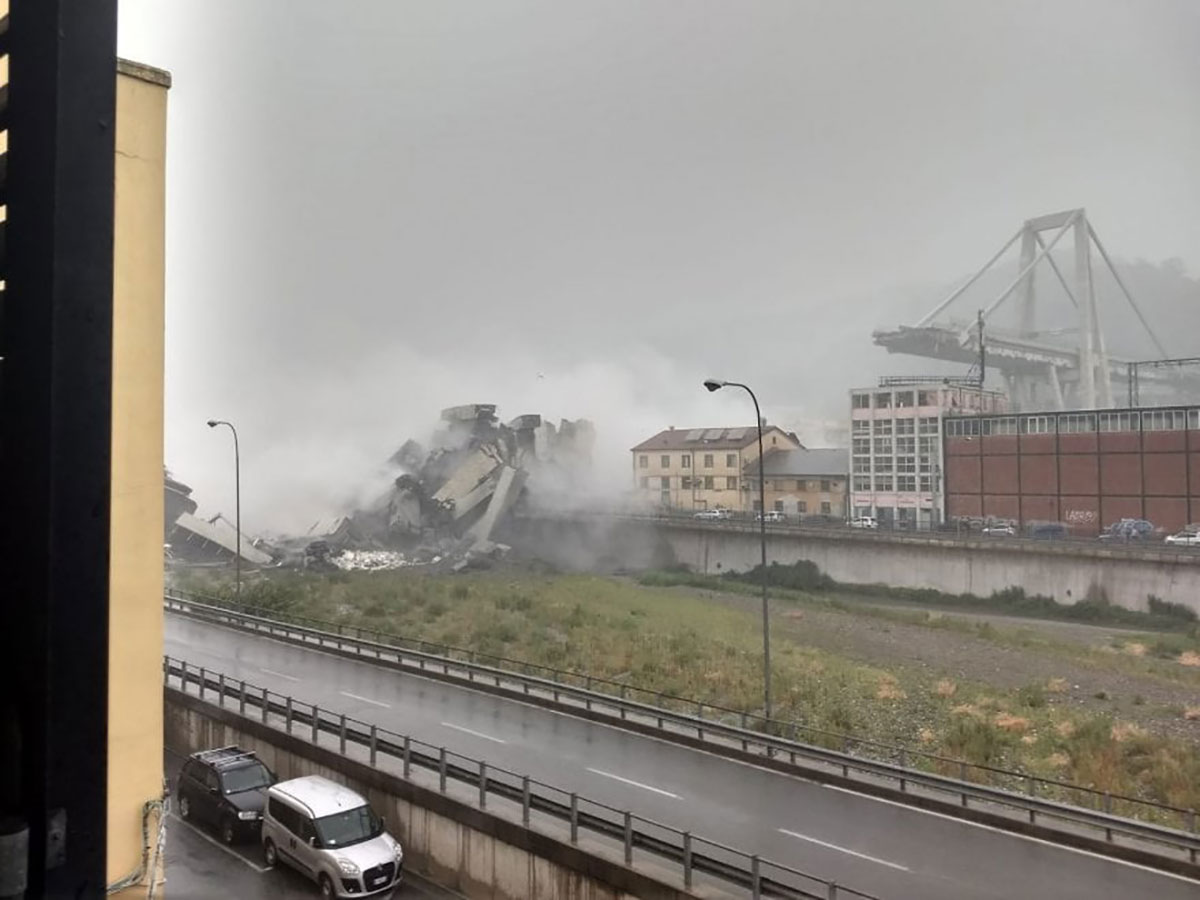 Macerie del Ponte Morandi a Genova
