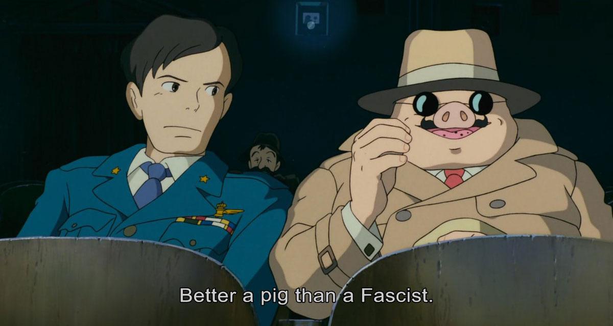 Scena tratta da Porco Rosso
