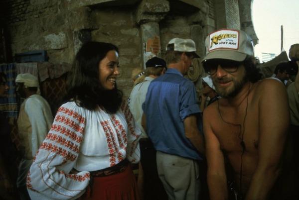 Spielberg e Allen sul set di Predatori dell'Arca perduta