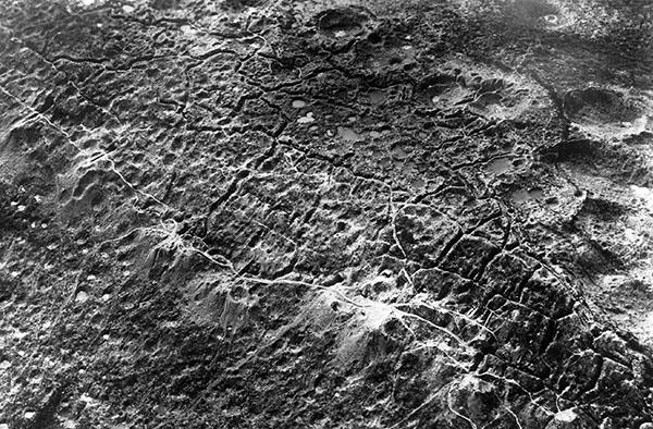 Vista aerea delle trincee del fronte occidentale