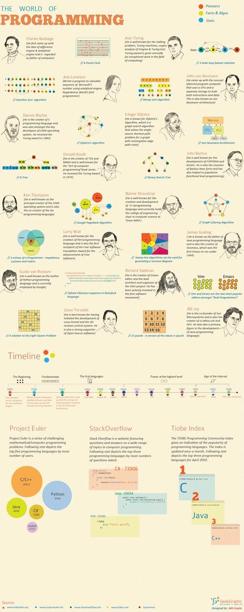 L'infografica sul mondo della programmazione
