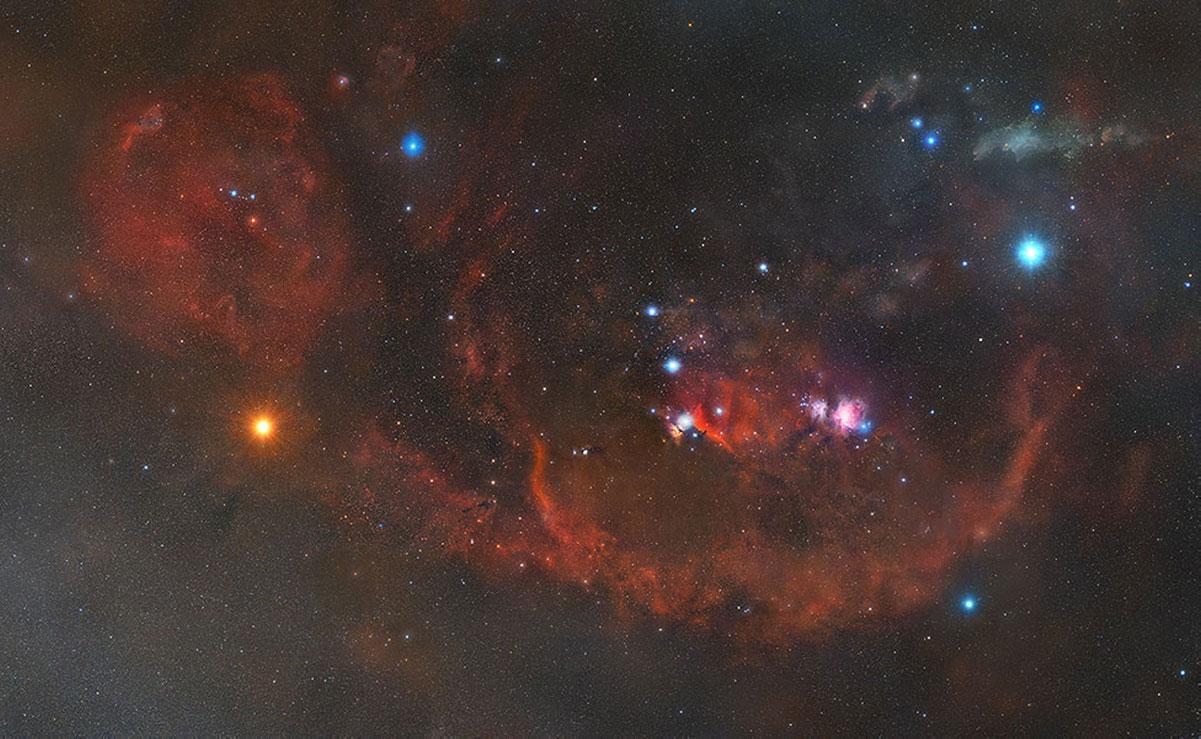 La costellazione di Orione fotografata da Matt Harbison