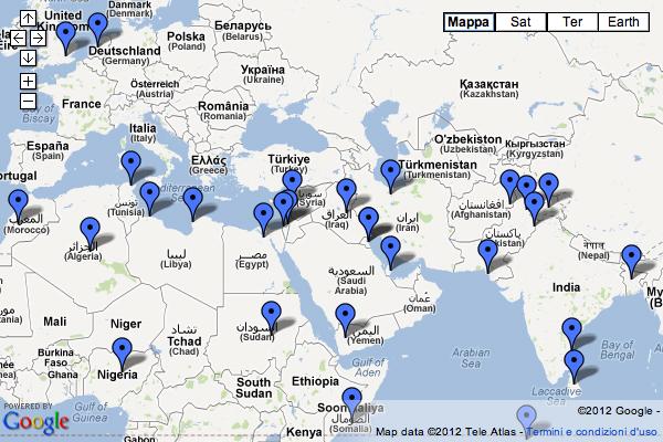 La mappa delle proteste musulmane