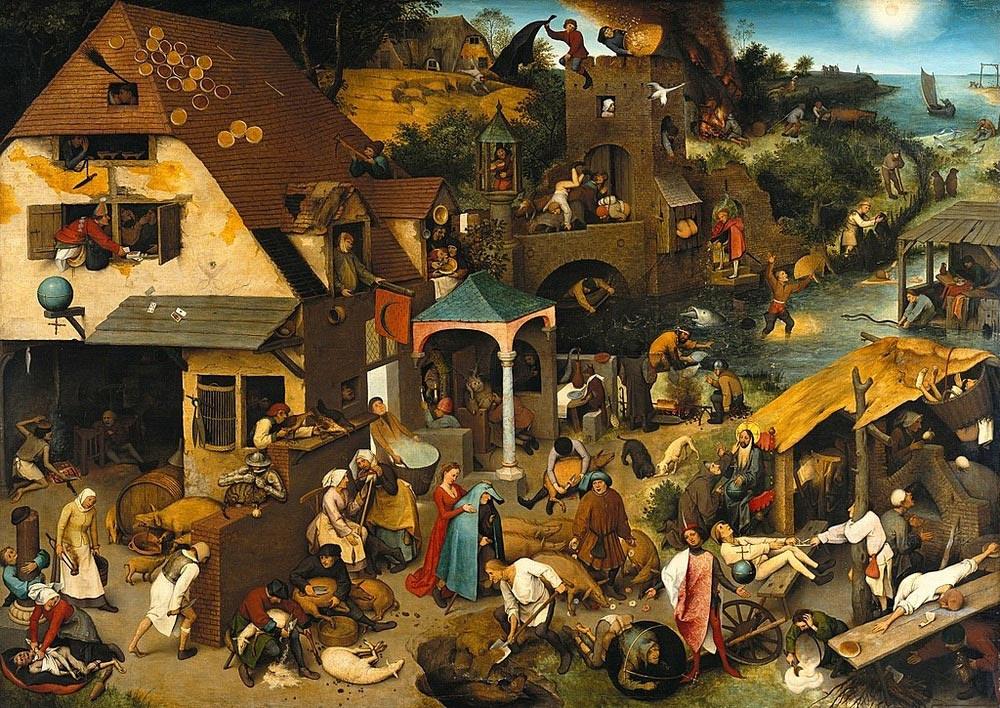 Proverbi fiamminghi di Pieter Bruegel il Vecchio
