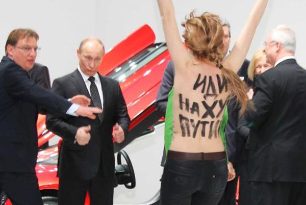 Putin e la protesta delle Femen
