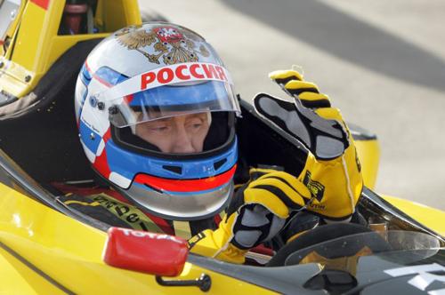 Putin al volante di una Renault Formula 1