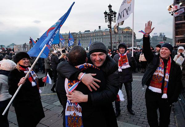 Manifestazione pro Putin